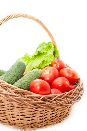 vegetables in a basket photo