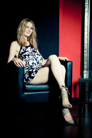 secretaria sexy: Retrato de mujer joven sexy en Oficina