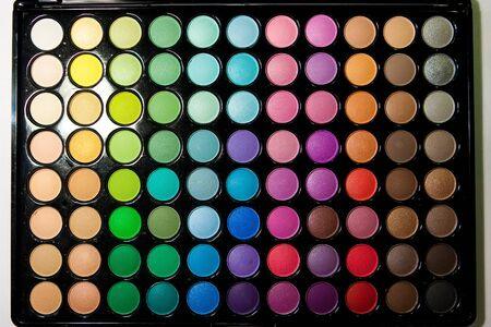 eyemakeup: Makeup set. Professional multicolor eyeshadow palette