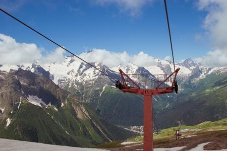 dombai: Caucasus Mountains, Dombai Stock Photo