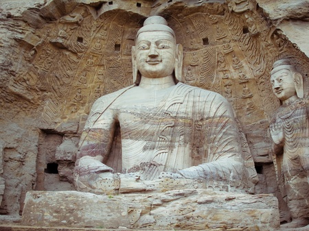 China, shanxi: Stone carving of Yungang grottoes