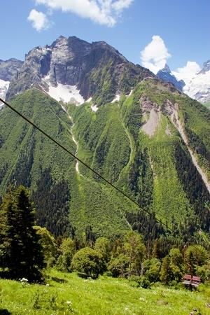 dombay: Caucasus Mountains, Dombai Stock Photo