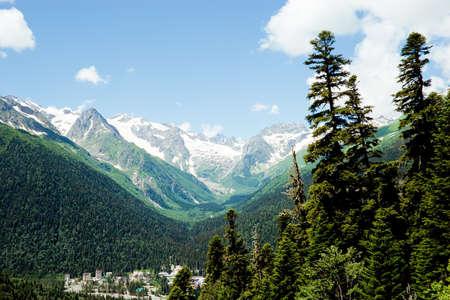 caucasus: Caucasus Mountains. Region Dombay Stock Photo