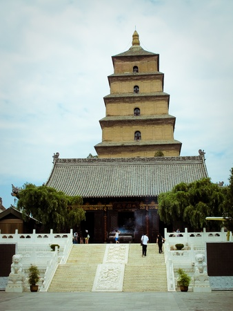 Giant Wild Goose Pagoda - Buddhist pagoda in Xian, China.  Stock Photo - 9515108