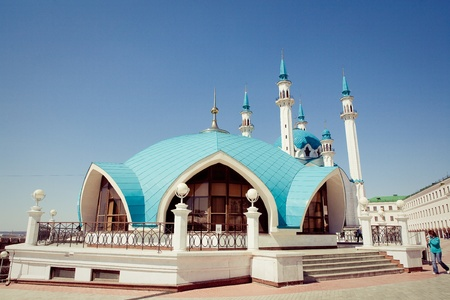 Kul Sharif mosque in Kazan Kremlin, Russia  Stock Photo