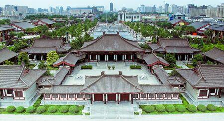 中国西安の航空写真