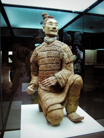 china art: The famous terracotta warriors of XiAn, China