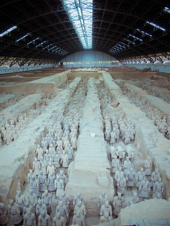 The famous terracotta warriors of XiAn, China