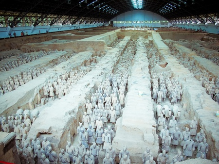 The famous terracotta warriors of XiAn, China Stock Photo - 9867710