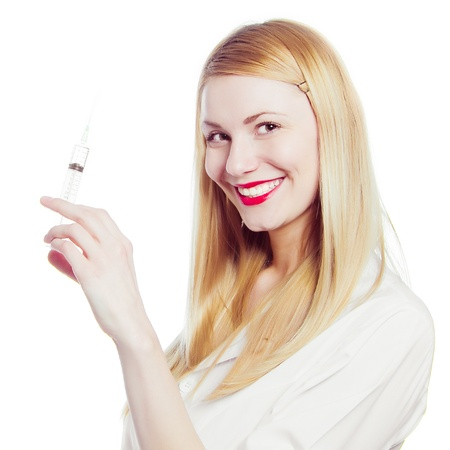 pretty nurse with syringe Stock Photo - 10157385
