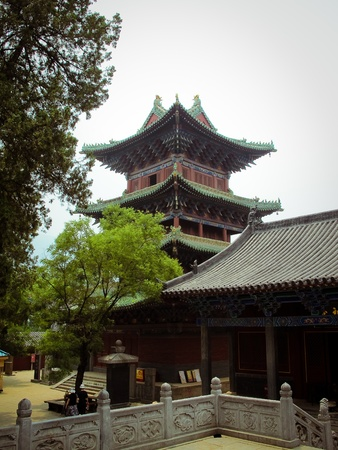 Shaolin Temple in Dengfeng of Henan Province, China. Standard-Bild