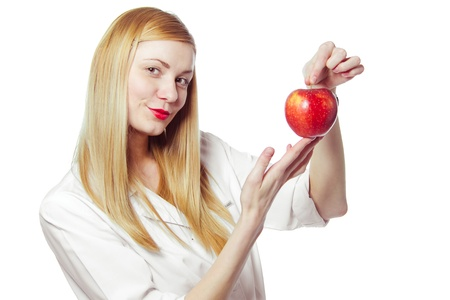 woman doctor with apple  photo