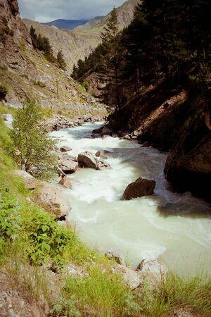 musa: beautiful mountain landscape, river