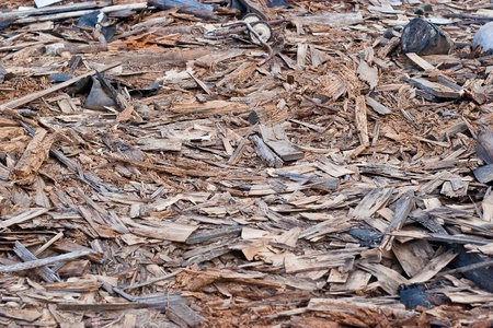 A pile of debris of destroyed building  photo