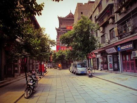 中国では、河南省洛陽町 写真素材