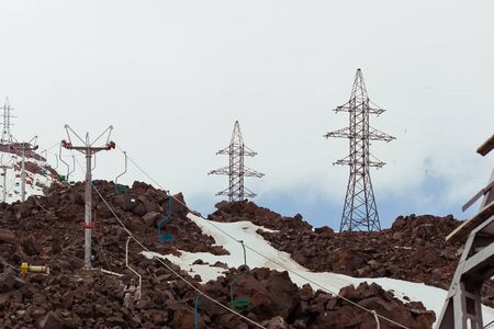 freeride: beautiful mountain landscape, Elbrus  Stock Photo