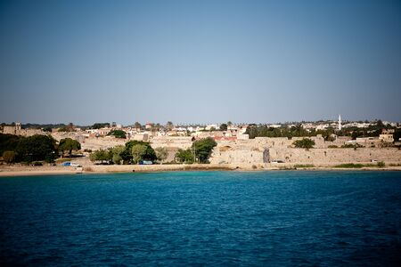 Panoramic view of Rhodes town photo