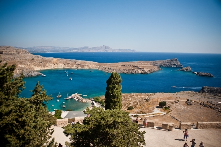 Greek islands - Rhodes, Lindos bay  Stock Photo - 15339002
