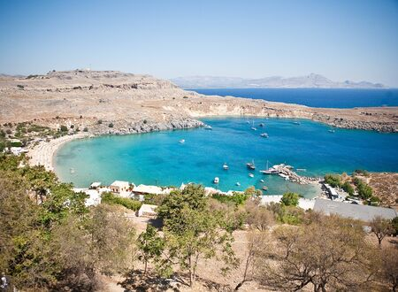 Greek islands - Rhodes, Lindos bay  photo