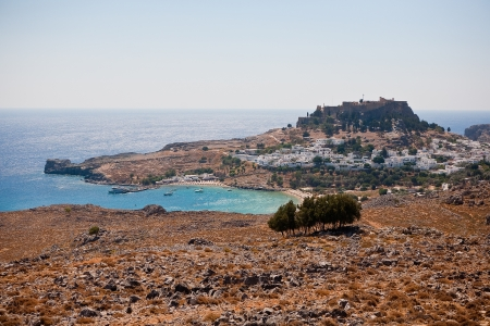 view of the town of Lindos, Rhodes Island, Greece Stock Photo - 16655359