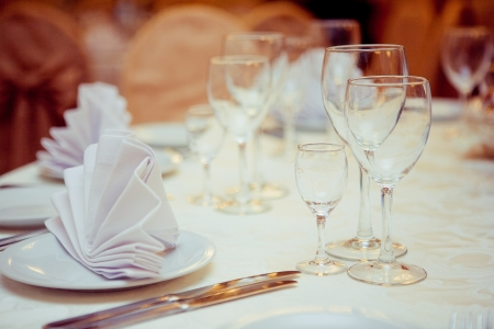 Table set for an event party or wedding reception Stock Photo - 15364781