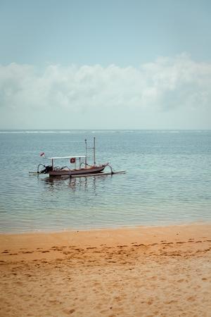 local fishing boat  Bali , Indonesia photo