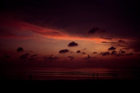 kuta: Bali Kuta Beach sunset Stock Photo