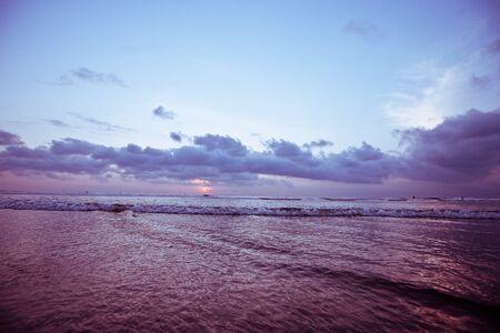 seminyak: Bali Kuta Beach sunset Stock Photo