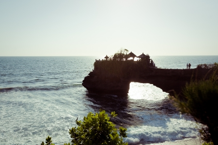 near Tanah Lot Temple on Sea in Bali Island Indonesia Stock Photo - 16757372