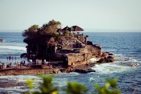 Tanah Lot Temple on Sea in Bali Island Indonesia Stock Photo - 17119175