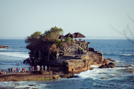 Tanah Lot Temple on Sea in Bali Island Indonesia Stock Photo - 17119174