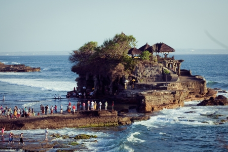 Tanah Lot Temple on Sea in Bali Island Indonesia  Stock Photo - 16770078