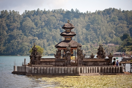 Ulun Danu temple Beratan Lake in Bali Indonesia Stock Photo - 17128620