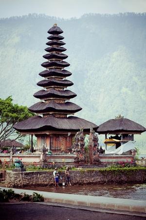 danu: Ulun Danu temple Beratan Lake in Bali Indonesia