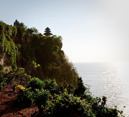 pura: View of Pura Uluwatu temple, Bali, Indonesia