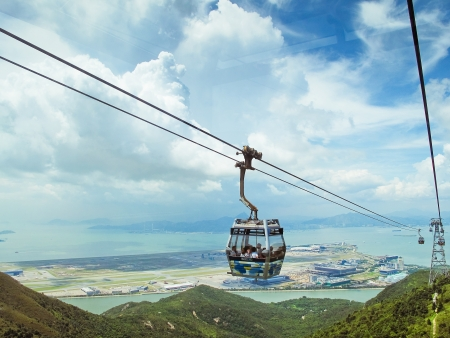 natural landmark: View down from the cable car
