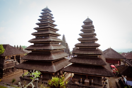 Besakih complex  Pura Penataran Agung , Largest hindu temple of Bali, Indonesia  Stock Photo - 17644704