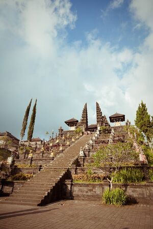 Besakih complex  Pura Penataran Agung , Largest hindu temple of Bali, Indonesia photo