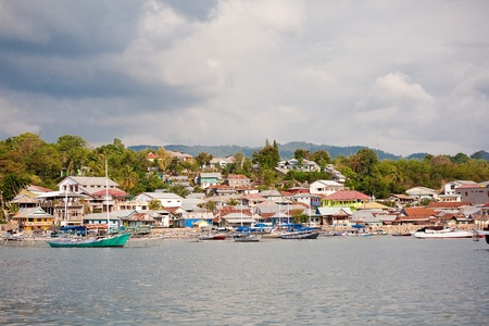 harbor in Labuan Bajo, Flores island, Indonesia photo