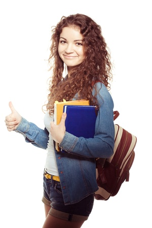 Smiling student woman Stock Photo - 18871419