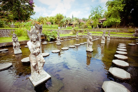 Tirtagangga water palace on Bali island, Indonesia photo