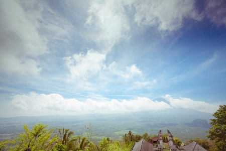 Agung volcano, Bali, Indonesia. View from pura Lempuyang photo