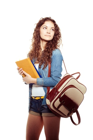 smiling student woman Stock Photo - 21428794