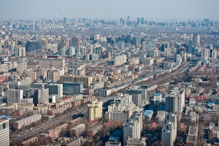 Airview panorama of Beijing, China