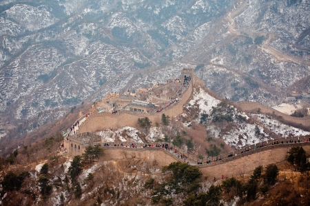 Chinese Great Wall in winter