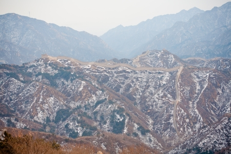 Chinese Great Wall in winter photo