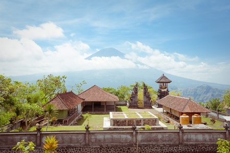 Agung volcano, Bali, Indonesia  View from pura Lempuyang
