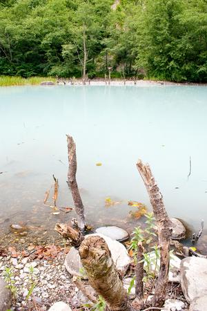 The unique blue turbid lake Stock Photo - 22513533