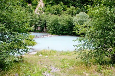 murky: The unique blue turbid lake