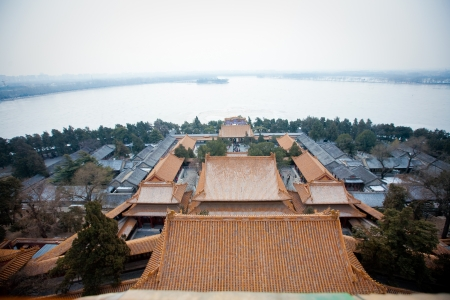 Summer palace in Beijing, China at winter
